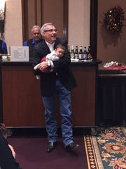 Baby Olivia and her father, U.S. Rep. David Schweikert.