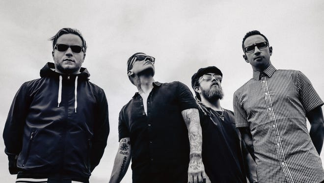 The members of Shinedown, from left: Zach Myers, Brent Smith, Barry Kerch and Eric Bass.