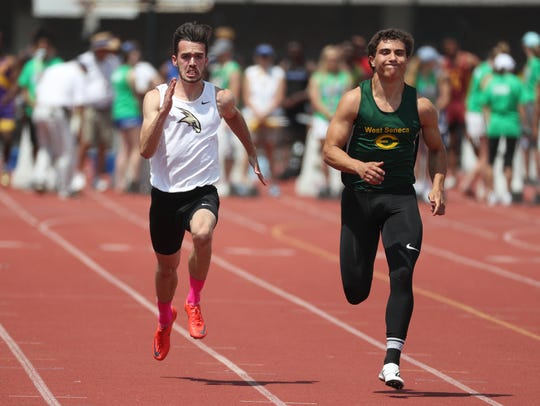 Corning's Alex Spicer competes in the 1,200 meter run