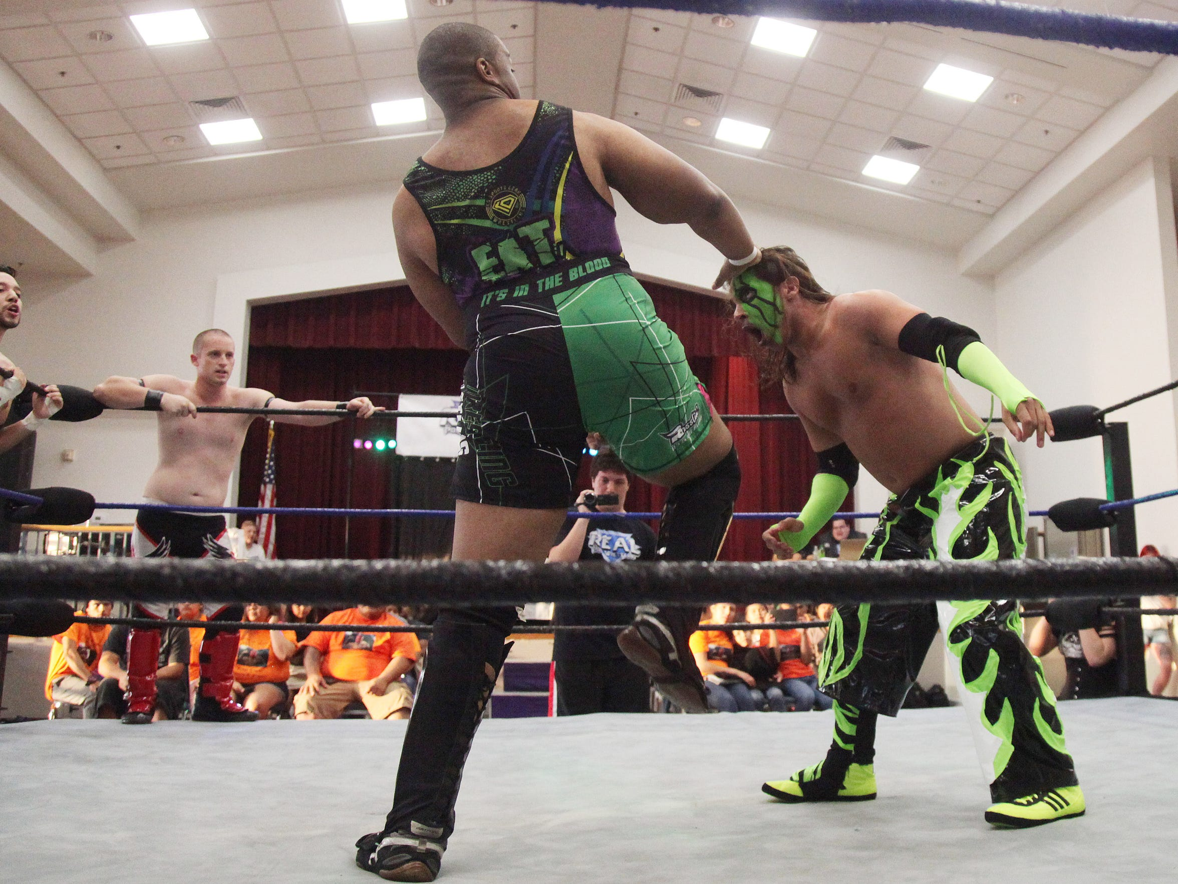 Stephen Damico, also known as Syther to his fans, competes in the ring during an event held by REAL Pro Wrestling at the Riverside Center in Fort Myers.