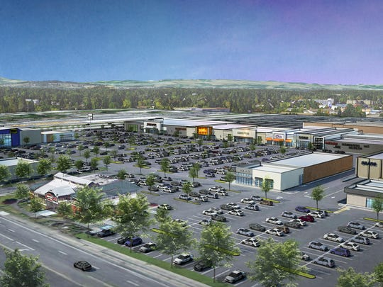 A rendering of the renovation effort facing Lancaster Mall in Salem, Ore.