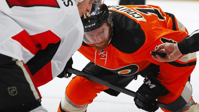 Sean Couturier's line did well in shutting down Alex Ovechkin on Wednesday.