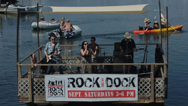 Last year's Rock on the Dock series kicked off with Carmen and the Renegade Vigilantes. The free concerts, performed by bands on a dock floating in Ventura Harbor, are taking place again on Saturdays in September.