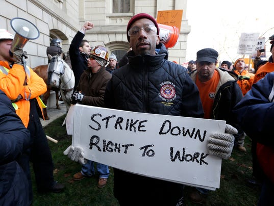 AP RIGHT TO WORK MICHIGAN A USA MI