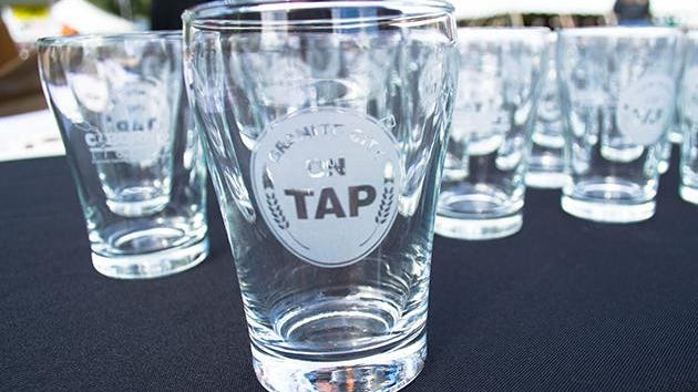 Glasses at the 2014 America On Tap festival in Sauk Rapids. The 2015 event is scheduled for Sept. 12.