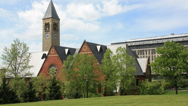 Cornell is situated on a large, leafy campus on a hill overlooking the city.  Cornell is considered one of the top universities in the world, with 40 Nobel laureates affiliated with the university as faculty or students.