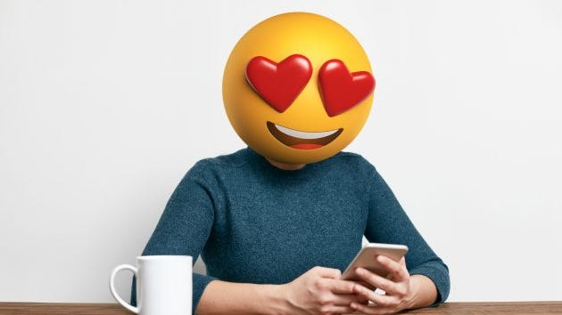 If you don't use emojis when you meet someone on a dating app, maybe you should.
