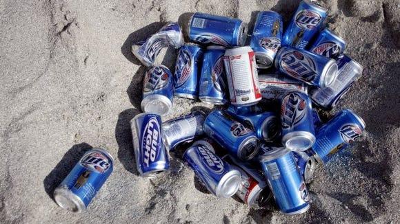 beer cans spring break