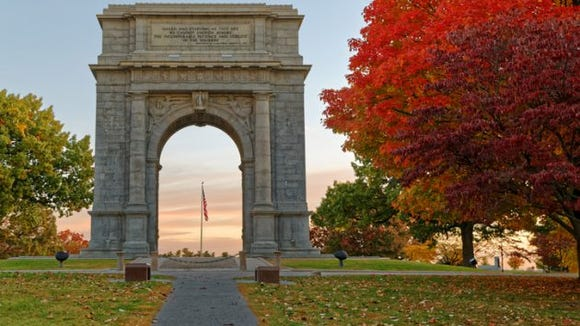 The National Memorial Arch is a monument dedicated to George Washington and the United States Continental Army. This monument is located at Valley Forge National Historical Park in Pennsylvania. (Photo: Getty Images)
