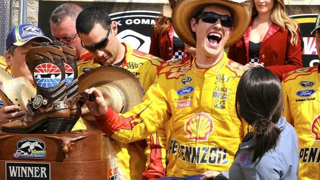 Joey Logano of Middletown, CT is the talk of NASCAR! (Credit: AP photo)