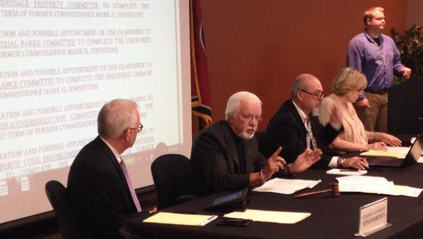 Gary Deaton (second from left) was elected chairman of the Madison County Commission this morning.