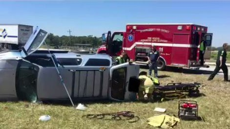 A man in his mid-50s was seriously injured in a one-vehicle accident Thursday afternoon on State Road 70 near the St. Lucie-Okeechobee county line