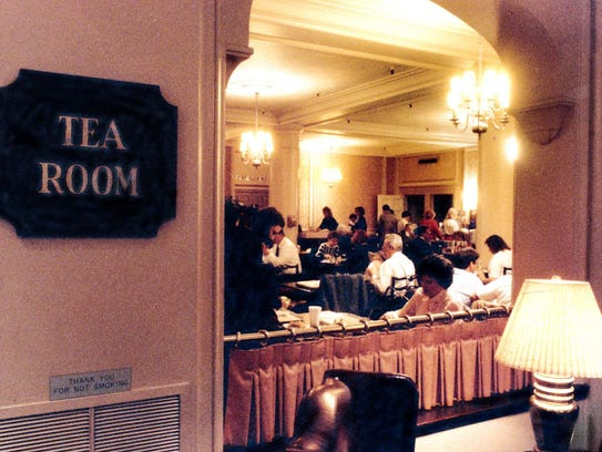 The Ayres Tea Room is shown on Nov. 8, 1990, shortly