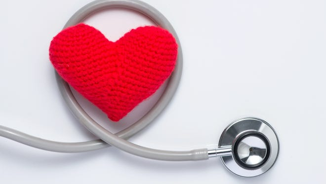 Healthy Heart isolated on white background