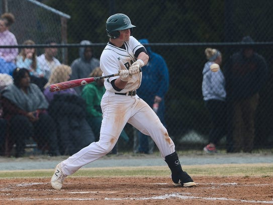 Parkside's Connor Shockley with the hit against Bennett