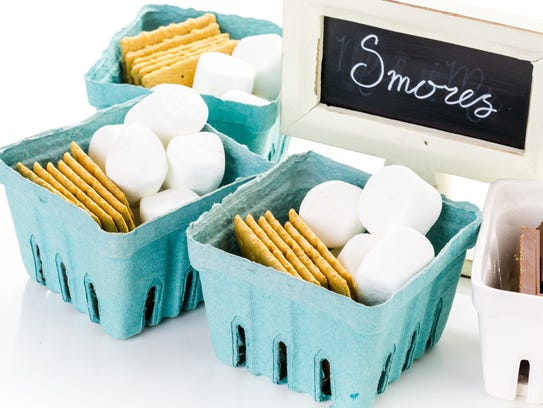Light up the fire pit and serve s'mores as a birthday