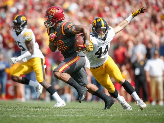 Iowa State sophomore running back David Montgomery
