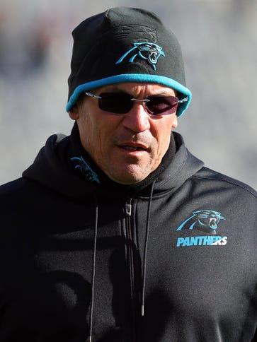 Carolina Panthers head coach Ron Rivera has given pep