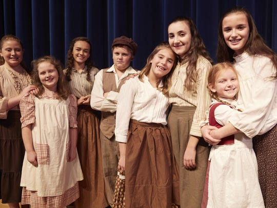 Children in Webster Theatre Guild's Fiddler On the Roof.