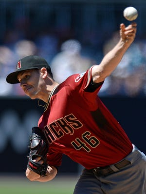 Apr 17, 2016: Arizona Diamondbacks starting pitcher Patrick Corbin (46) throws the ball during the first inning against the San Diego Padres at Petco Park.