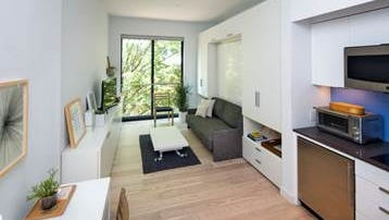 Carmel Place, a building of microapartments, opened in New York City on Oct. 27, 2016.