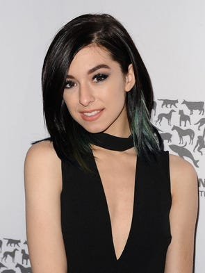 Singer Christina Grimmie attends The Humane Society