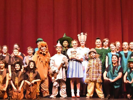 "Cast 1 of the Endicott Performing Arts Center's Kids Theater Workshop production of ""The Wizard of Oz."""