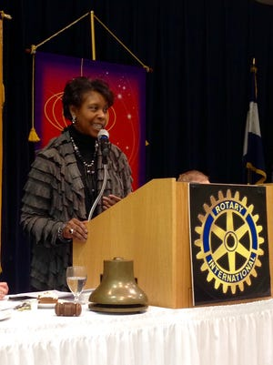 Alexandria attorney Deirdre Fuller highlights Central Louisiana civil rights milestones in a Black History Month discussion with the Rotary Club on Tuesday.
