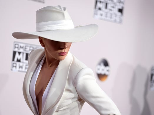 Lady Gaga arrives at the American Music Awards at the