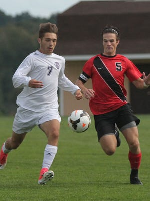 The Lexington boys soccer team played host to Mansfield Christan