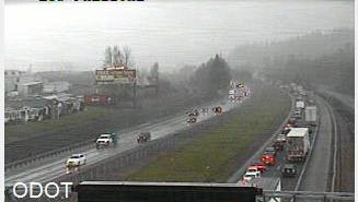 A crash occurred on Interstate 5 Northbound, roughly 7 miles north of Albany.