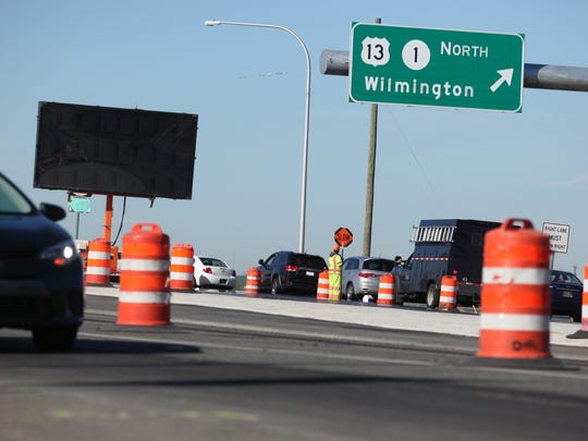 The Delaware Department of Transportation hopes the diverging diamond traffic pattern installed at the Del. 1, Del. 72 interchange will improve traffic flow and congestion.