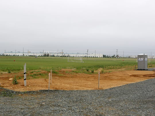 The proposed $13 million Delaware Sports Complex was to feature 15 full-size grass fields for soccer, lacrosse or field hockey and 16 baseball diamonds. Also proposed was a 160,000-square-foot indoor facility with a World Cup-size indoor field and three hard courts. Work has halted while Chapter 11 bankruptcy proceedings continue.