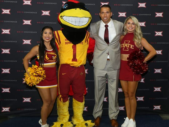 Iowa State Cyclones head coach Matt Campbell poses