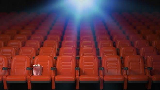 Cinema and movie theater concept background.