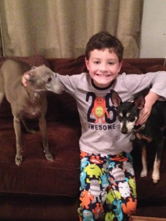 Everett with dogs