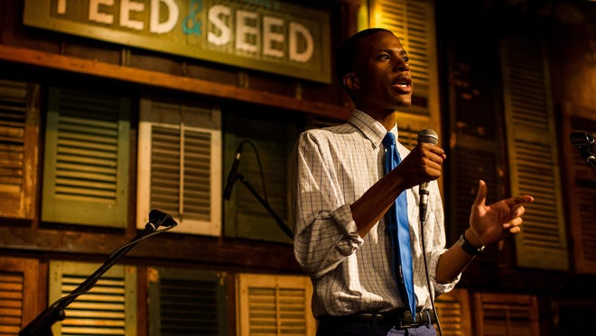 Kris Harrison of the UL College Democrats speaks on becoming politically engaged during Lafayette Unfiltered, hosted by The Daily Advertiser, at the Feed & Seed in Lafayette Tuesday.