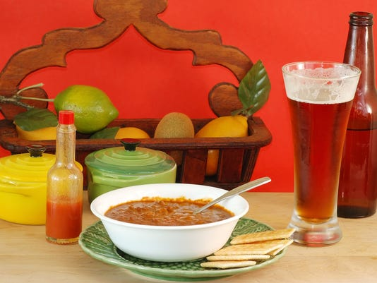 Eating Chili and Drinking Beer