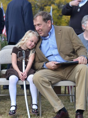 Sam Whitson, with his granddaughter Anna Kate Whitson, is running for Tennessee's 65th House District seat.