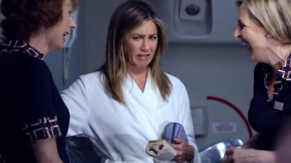 A screenshot of Jennifer Aniston's first commercial
