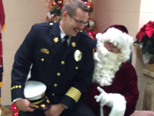 Erin Fire Chief Danny Warren asks Santa Claus for firetrucks