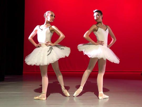 Dueling ballerinas Seah Hagan and Sydney Ewing prepare