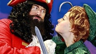 """Mike Martindale portrays Captain Hook and Emily Martinson plays Peter Pan in an upcoming prduction of """"Peter Pan Jr."""""""