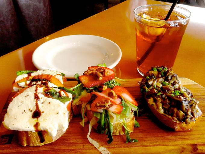 Artisan bruschetta is a popular appetizer at the newly-opened