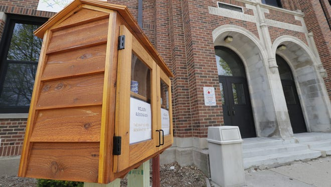 A blessing box was installed last week in front of Wilson Middle School in Appleton.