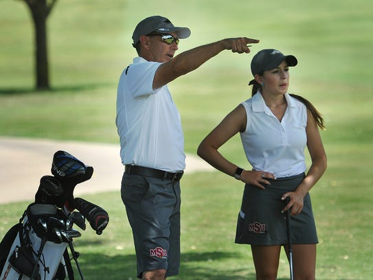 Midwestern State University golf coach Jeff Ray offers