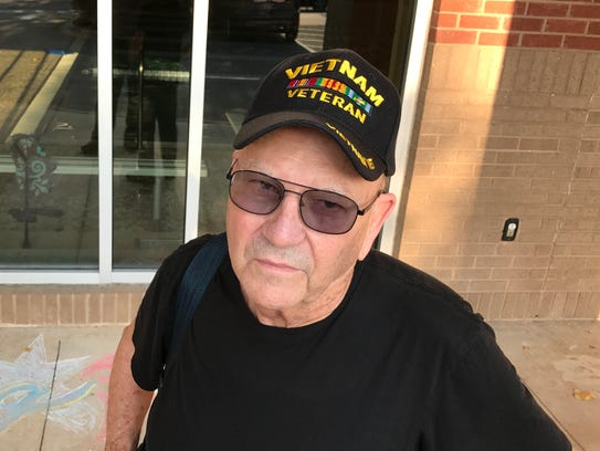 Army veteran and Arden resident Max Hurley spent a