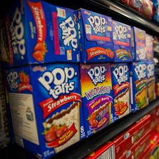 NEW YORK, NY - FEBRUARY 19:  Boxes of Pop-Tarts sit for sale at the Metropolitan Citymarket on February 19, 2014 in the East Village neighborhood of New York City. Kellogg, maker of Pop-Tarts, has announced that it will only buy palm oil - a minor ingredient in Pop-Tarts - from companies that don't destroy rainforests where palm trees are grown. Palm oil is used in many processed foods.  (Photo by Andrew Burton/Getty Images)