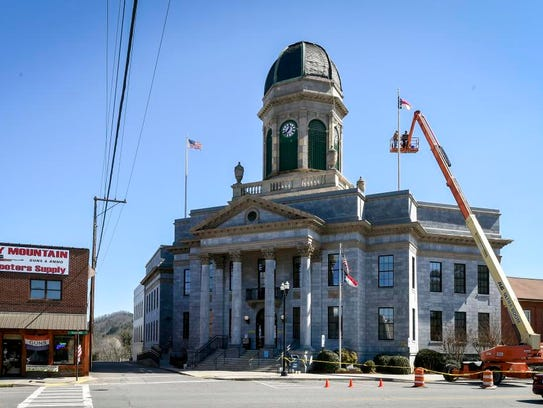 The Cherokee County Courthouse on Wednesday, March