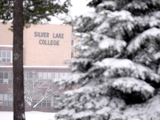 Silver Lake College in Manitowoc during winter.